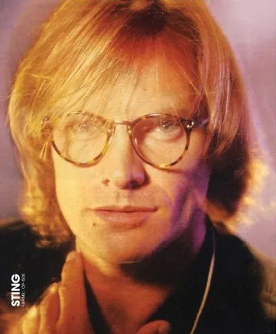 "STING wearing OLIVER PEOPLES ""OP-505"" (1989)"