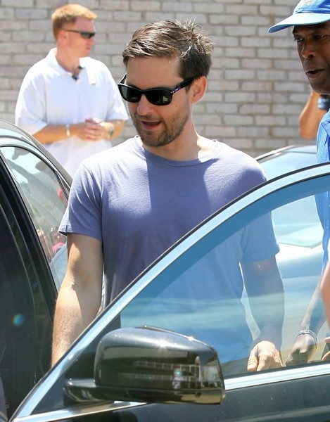 Tobey Maguire wearing Persol 2953S
