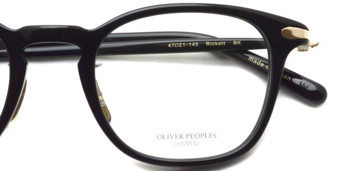 OLIVER PEOPLES /  RICKETT  /  BK   /  ¥37,000 + tax
