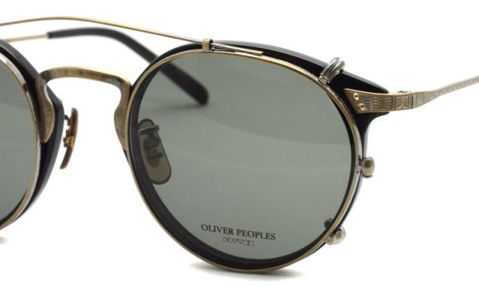 OLIVER PEOPLES / OP-27T c*BK-AG  +  505Clip c*AG-G15