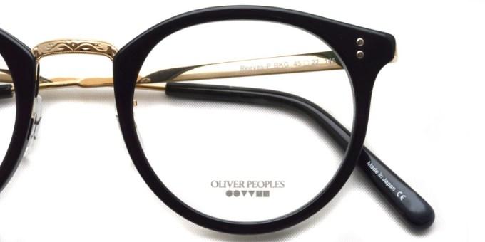 OLIVER PEOPLES / REEVES-P / BKG / ¥30,000 + tax