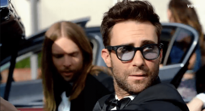Adam Levine wearing OLIVER PEOPLES / AFTON