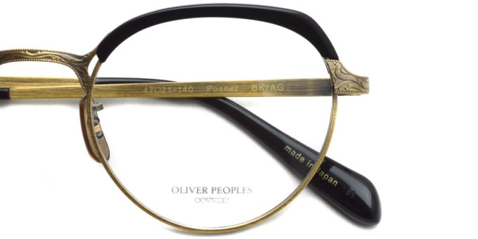 OLIVER PEOPLES / POSNER /  BKAG  /  ¥40,000 + tax