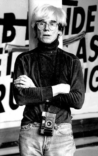 Andy warhol wearing MOSCOT / MILTZEN / Flesh