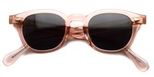 JULIUS TART OPTICAL / AR Sun/ Flesh Pink - Dark Grey Lenses / Bridge : 22mm / ¥40,000+tax