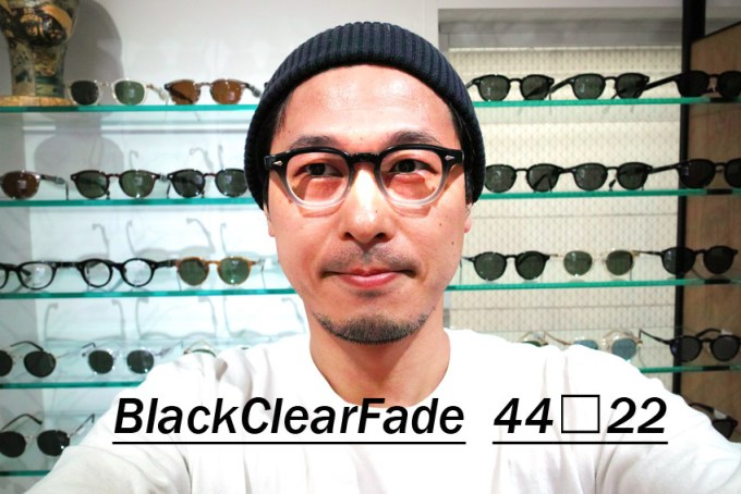 JULIUS TART OPTICAL / AR 44-22size / BlackClearFade