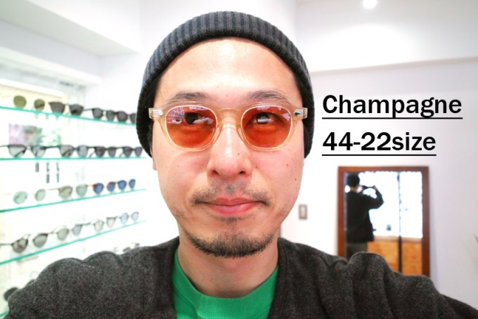 JULIUS TART OPTICAL / AR Sun/ Champagne - Red Brown Lenses / Bridge : 22mm / ¥40,000+tax