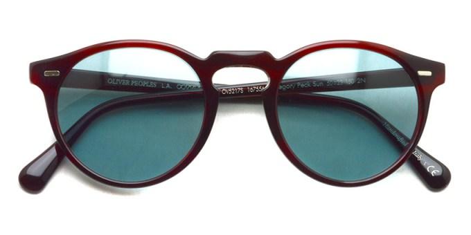 OLIVER PEOPLES / GREGORY PECK SUN -OV5217S- / 167556 BOREDEAUX - Blue Lenses / ¥30,000 +tax