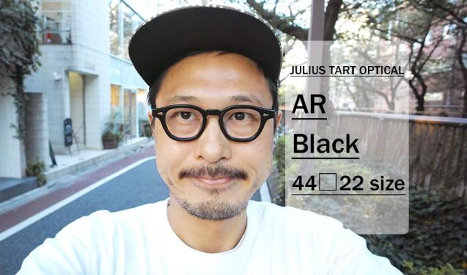 JULIUS TART OPTICAL / AR 44-22size / Black