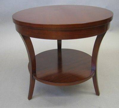 end table cherry wood modern round