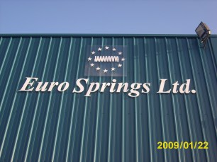 Eurospring 3D letter sign