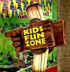 Kids Fun Zone Sign post 2