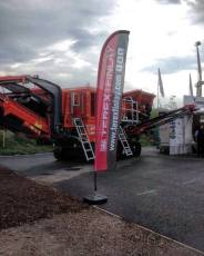 Terex Feather Flags