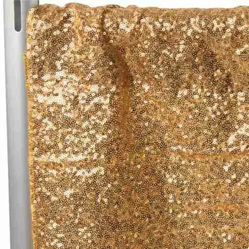 Sequin Backdrop Tall - Gold 1