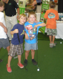 Kids Love Indoor Golf Greens