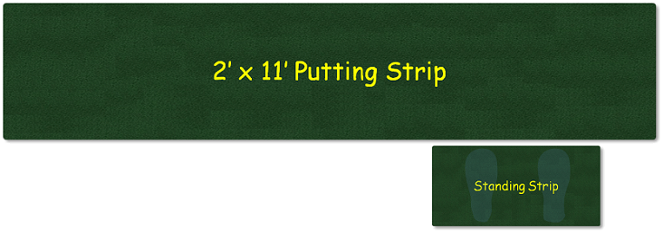 portable putting green strip
