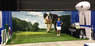 putting green at trade show