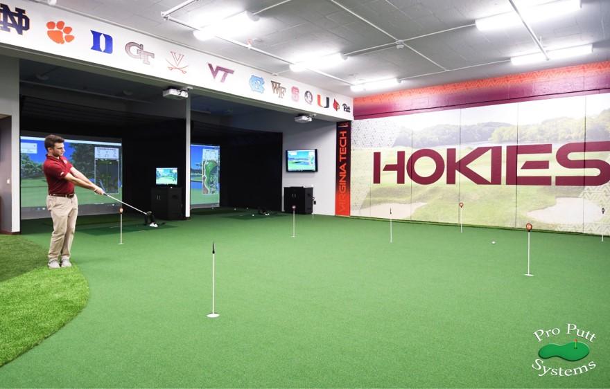 College Golf Room VA Tech