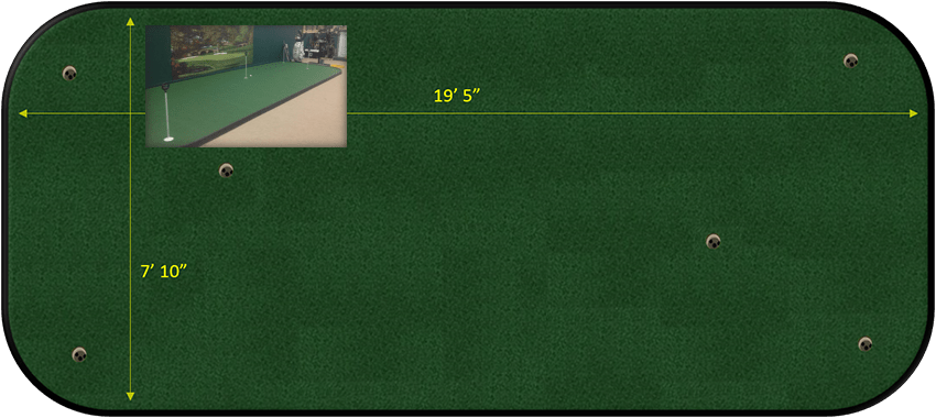 8 x 20 putting green