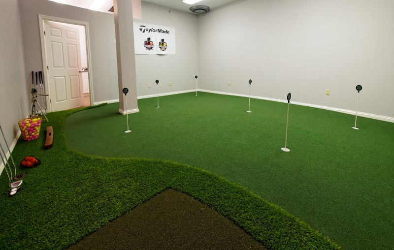 wall to wall golf room design