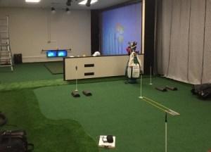 Commercial Indoor Golf Center Installtion