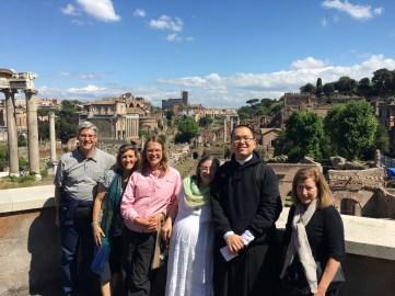 Mater Dei Parish above the Roman Forum!