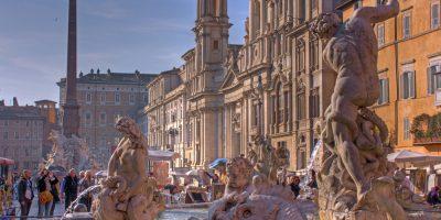 Fountain,Of,Neptune,,Piazza,Navona,,Rome,,Italy