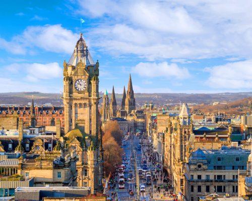 Old,Town,Edinburgh,And,Edinburgh,Castle,In,Scotland,Uk