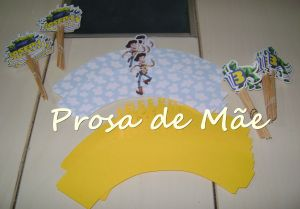 Wrappers e toppers para cupcakes, design for party