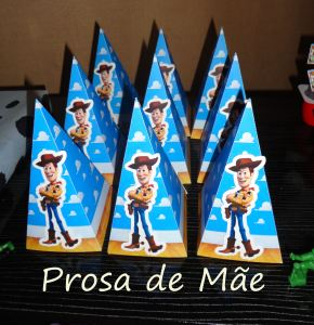 Festa Toy story, 3 anos, cones 3D do woody