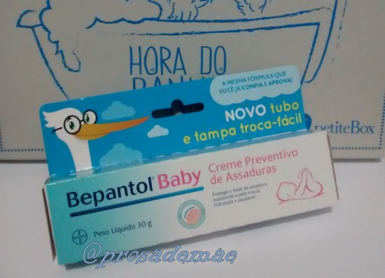 Petitebox, a hora do banho, creme preventivo de assaduras, bepantol baby