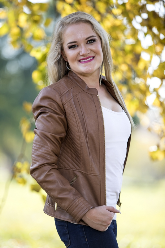 Jacolien de Bruyn with leather jacket lifestyle shoot