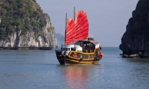 Junk boat Vietnam