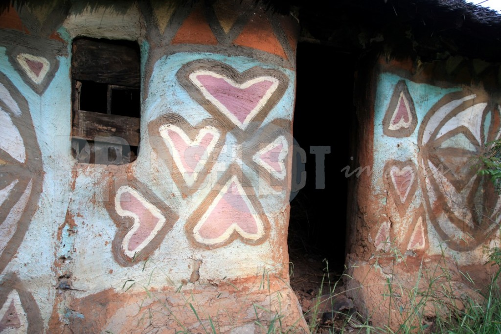 Decorated Basotho house