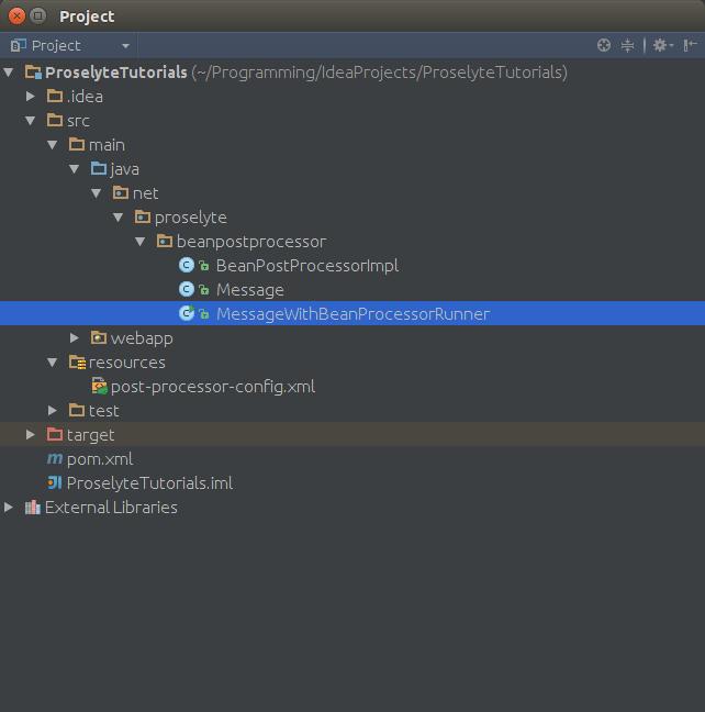 postProcessorProjectStructure