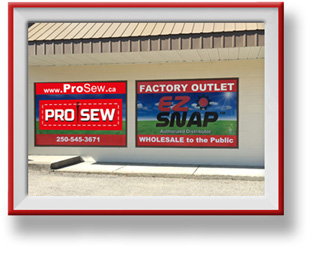 ProSew Tarp and Awning Showroom in Vernon BC