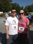 With the hubby at Ella's 5K
