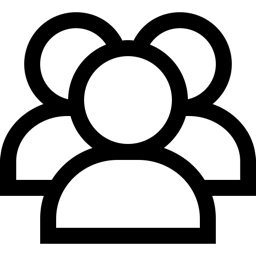 Group of three people outline icon