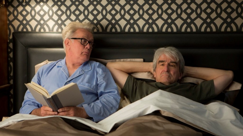 Grace and Frankie. Sol y Robert en la cama.