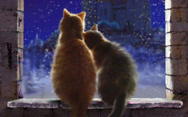 Картинки спокойной ночи зимние: скачать с надписями