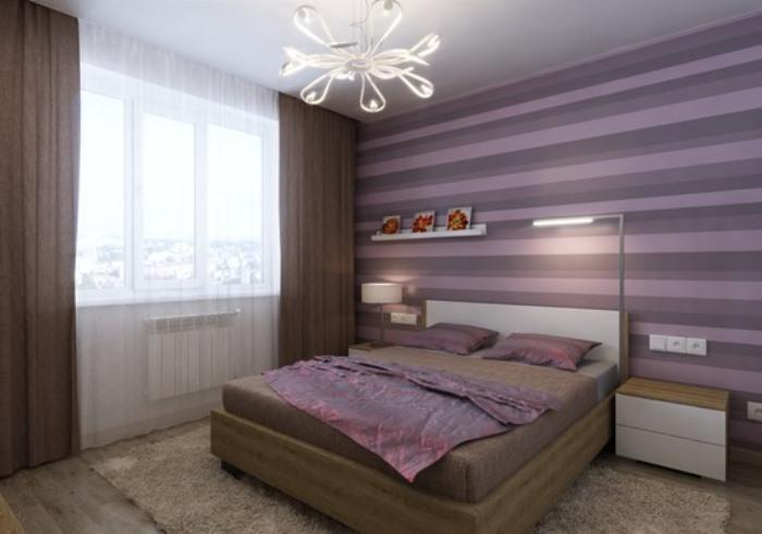 52d048bf8 فكر فيما إذا كانت ستصبح خلفية أرجوانية أم ستكون موجودة في الغرفة بلهجات  مشرقة. ديكور الحائط يعتمد أيضا على قرارك.