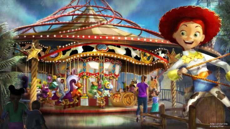 Pixar Pier Jessie's Critter Carousel