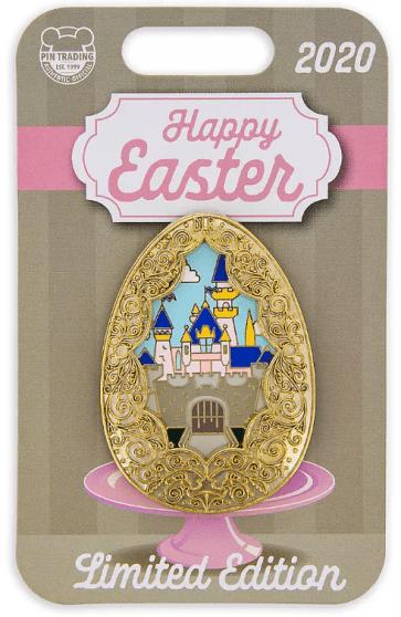 Sleeping Beauty Castle Easter Egg Pin