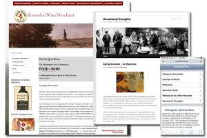 Rosenthal Wine Merchant - E-commerce, Web Development, Blog, SEO, Mobile and Tablet enabled.