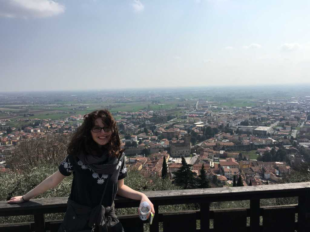 On day six, my classmates and I climbed to the top of Castello Superiore in Marostica.