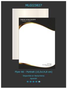 Modèle de flyer design personnalisable parfait pour être utilisé pour faire votre propagande électorale.