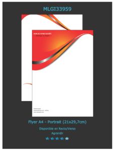 Prospectus A4 modèle à personnaliser retrouvez ses modèles publicitaires  cliquez sur devis en ligne en haut à gauche.