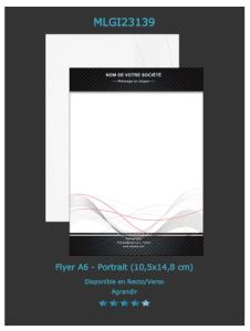 Modèle de flyer que vous pouvez personnaliser pour annoncer la projection d' un film dans votre salle de cinéma. Cliquez sur le bouton à droite pour demander un devis.