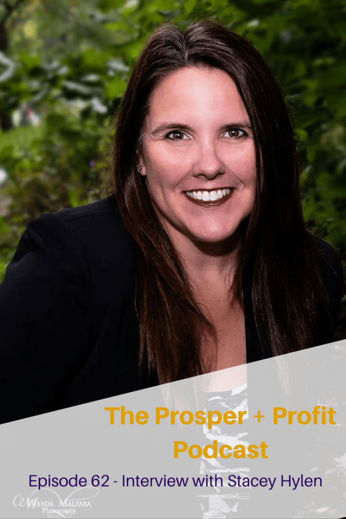 The Prosper + Profit Podcast Interviews Stacey Hylen, a business optimizer who helps you find your hidden profits