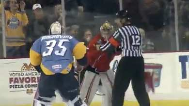 Photo of ECHL Brawl Breaks Out, Goalies Involved